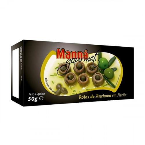 Manná Gourmet Rolos de Anchova em Azeite