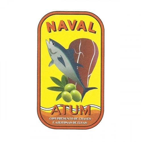 Naval Filetes de Atún en Aceite de Oliva con Jamón y Aceitunas