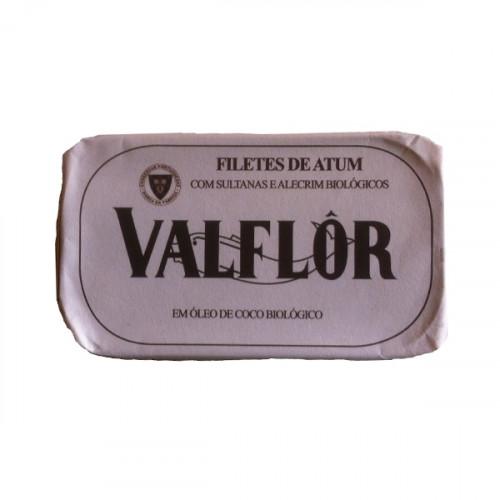 Valflor Filetes de atún en aceite de coco, sultanas y romero