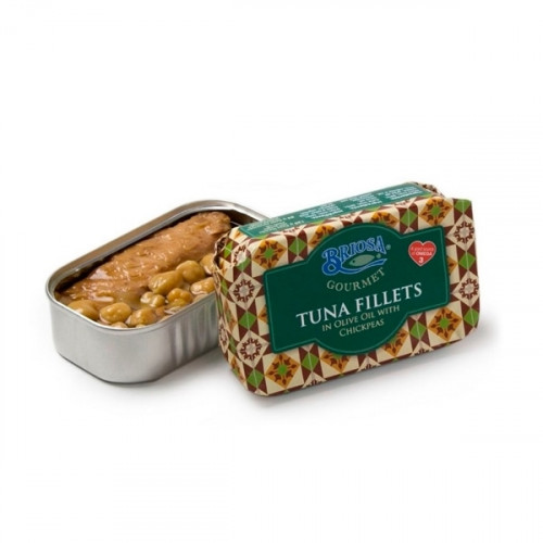 Briosa Gourmet Tuna Fillets in Olive Oil with chickpeas