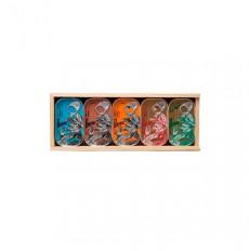 Porthos Scatola di miscelazione in legno - 5 unità