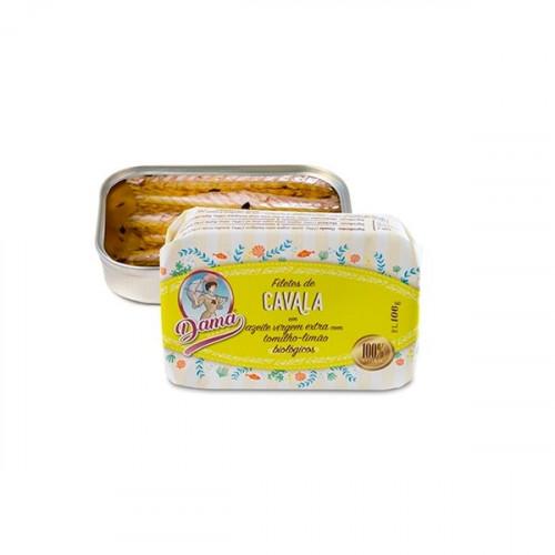 Dama Filets de maquereau à l'huile d'olive extra vierge biologique au citron et au thym