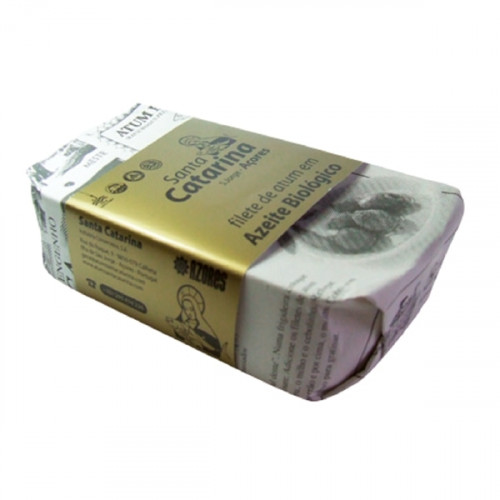 Santa Catarina Filete de Atún en Aceite de Oliva Ecológico 120 g