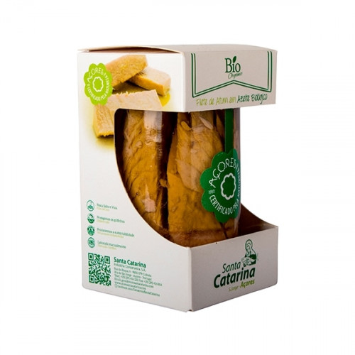 Santa Catarina Bio Tuna Fillet in Organic Olive Oil 250 g