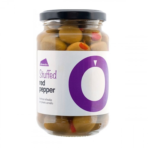 Almendra Green Olives Stuffed with Red Pepper 180 g