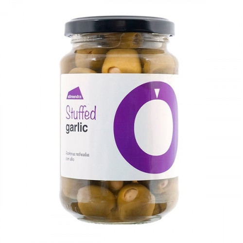 Almendra Green Olives Stuffed with Garlic