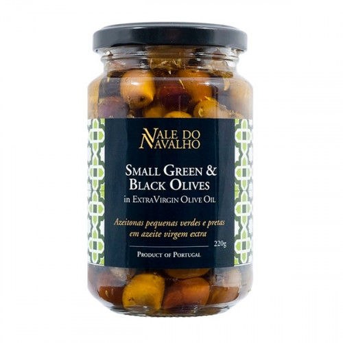Vale do Navalho Small Green and Black Olives 220 g