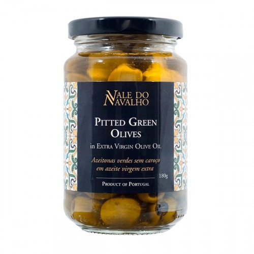 Vale do Navalho Pitted Green Olives 180 g