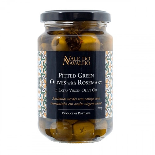 Vale do Navalho Pitted Green Olives with Rosemary 180 g