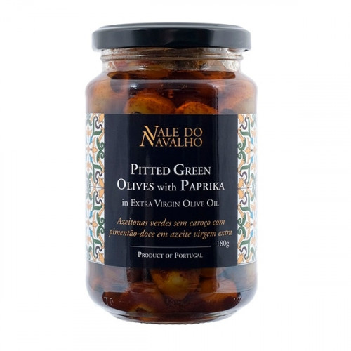 Vale do Navalho Pitted Green Olives with Paprika 180 g