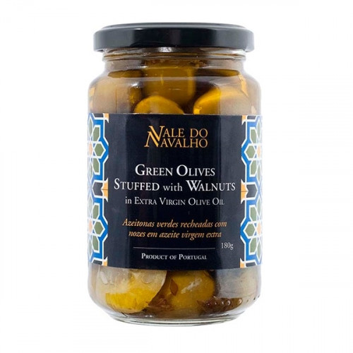 Vale do Navalho Green Olives Stuffed with Walnuts 180 g