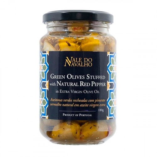 Vale do Navalho Green Olives Stuffed with Red Pepper 180 g