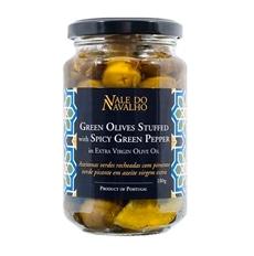 Vale do Navalho Grüne Oliven gefüllt mit grünem Pfeffer
