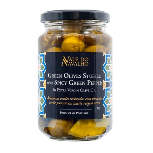 Vale do Navalho Green Olives Stuffed with Green Pepper 180 g
