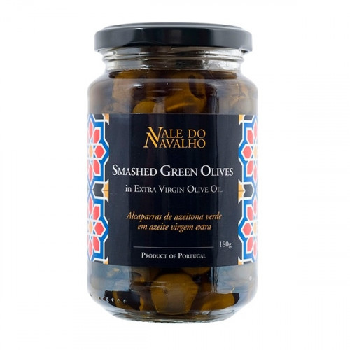 Vale do Navalho Smached Green Olives in Extra Virgin Olive Oil