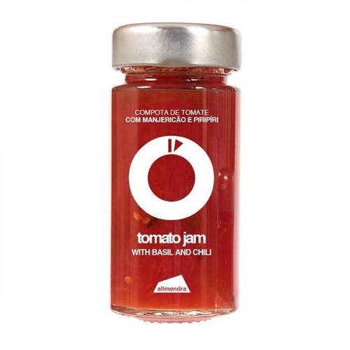 Almendra Tomate con Albahaca y Mermelada de Chile