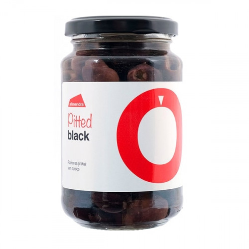Almendra Pitted Black Olives 180 g
