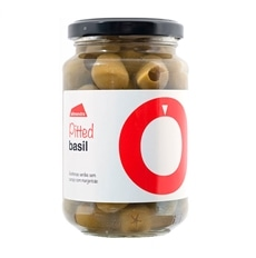 Almendra Pitted Green Olives with Basil