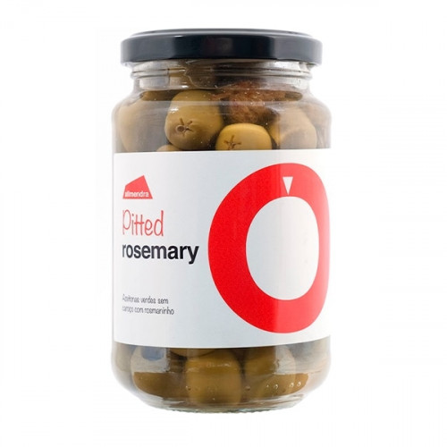 Almendra Pitted Green Olives with Rosemary