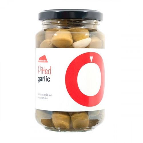 Almendra Olive Verdi Denocciolate Con Aglio 180 g