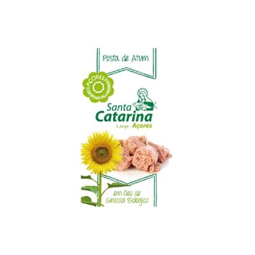 Santa Catarina Tuna Steak in Organic Sunflower Oil 120 g