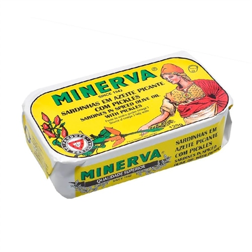 Minerva Sardines in Spiced Olive Oil and Pickles