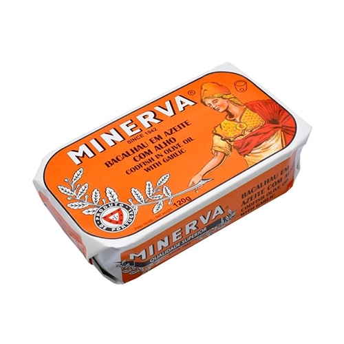 Minerva Kabeljau in Olivenöl und Knoblauch
