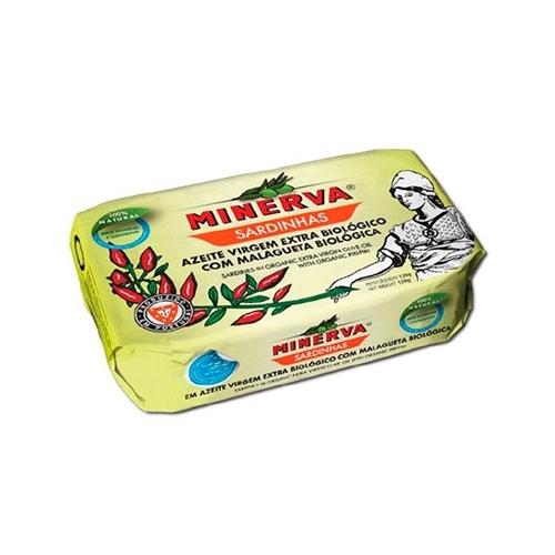 Minerva Sardines à l'Huile d'Olive Epicée Bio