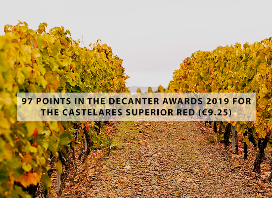 97 points in the Decanter Awards 2019 for the Castelares Superior red (€9.25)
