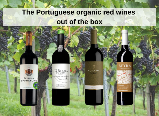 The Portuguese organic red wines out of the box