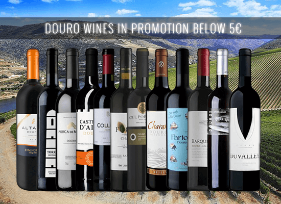 With a discount up to 50% check our selection of Douro Red Wines below €5