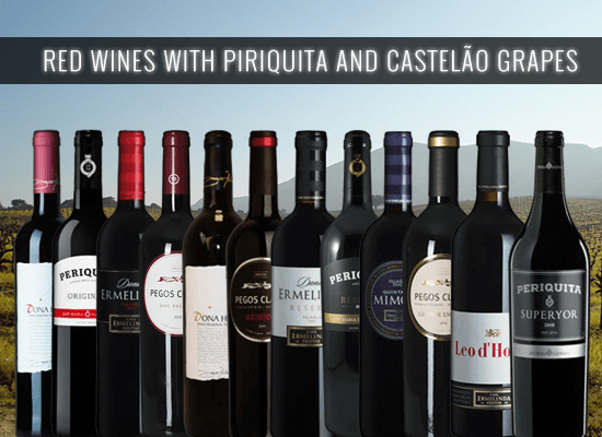 The Red Wines you must have from the famous grape variety Piriquita or Castelão