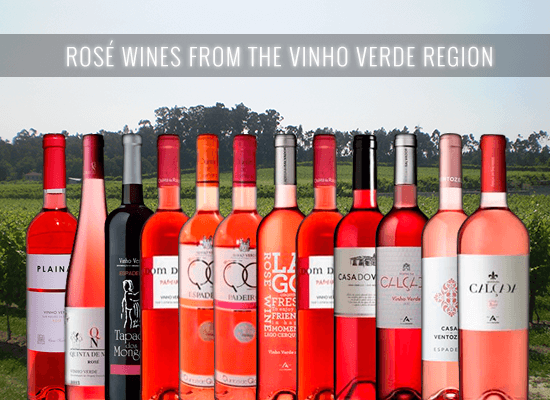 HIGHLY RECOMMENDED: The unique Rosé wines from the Vinho Verde wine region