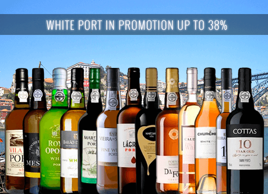UP TO 38% OFF in a selection of white port styles – Dry, Sweet, Reserve, Aged and Lagrima