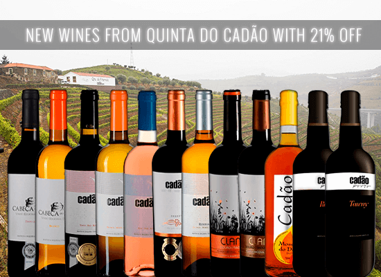 NEW IN STORE AND 21% OFF: The Cadão wines and port wines in the heart of the Douro wine region