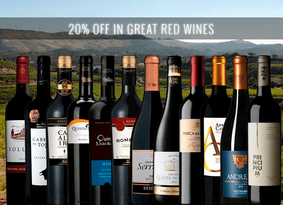 20% OFF in a selection of wines under € 10 and 90+ points that will never disappoint you