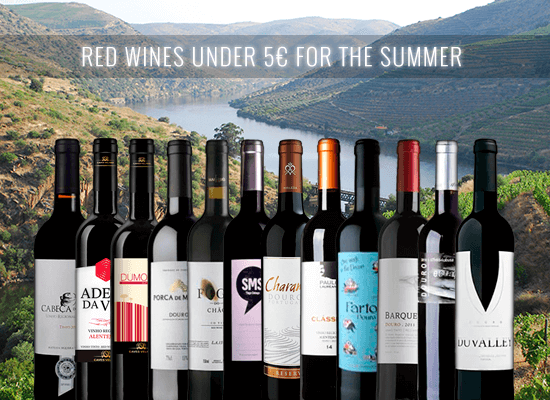 UP TO 50% OFF in a selection of fresh Douro and Alentejo Red Wines under €5