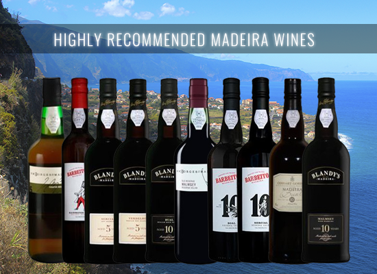 HIGHLY RECOMMENDED: A selection of 5 and 10 years Madeira wines that you can't resist