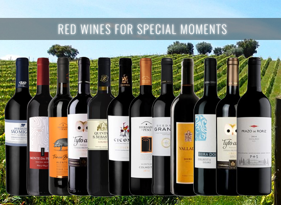12 Red Wines carefully selected for an upcoming social event