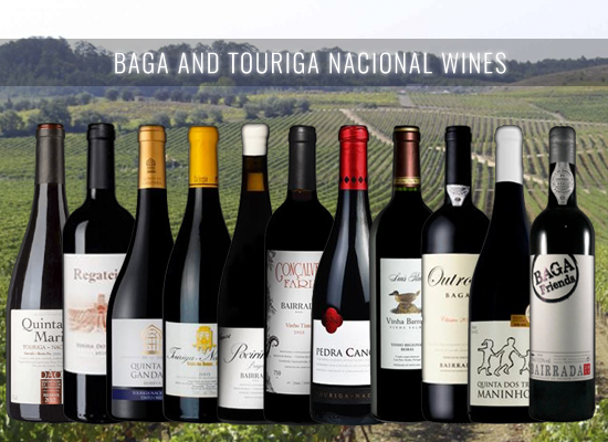 Our selection of Baga and Touriga Nacional Wines for the cold days