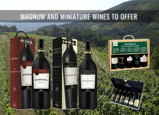 The Magnum bottles and Port Wine miniatures are a great option for the upcoming Christmas season