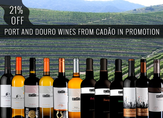 20% OFF in Port and Douro wines from Cadão