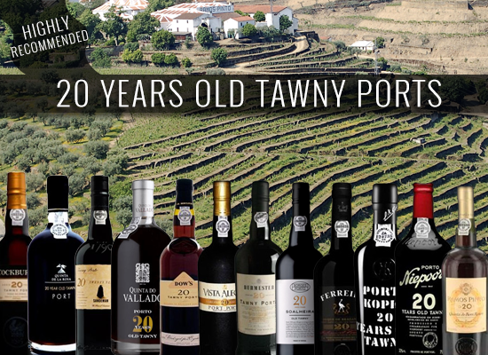 The 20 years old Port is considered the best way to drink a Tawny Port
