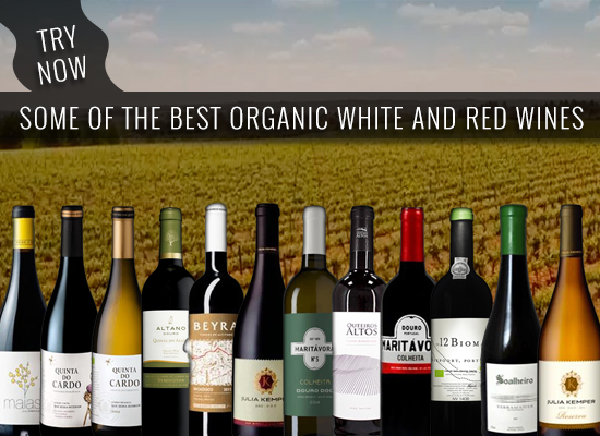 Our selection of White and Red wines from organic farming