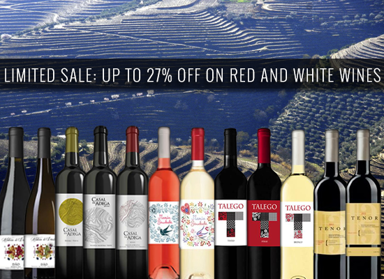 Limited sale: up to 27% off in red and white wines