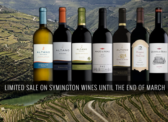 Limited sale on Symington wines until the end of March