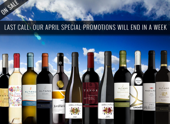 LAST CALL: Our April special promotions will end in a week