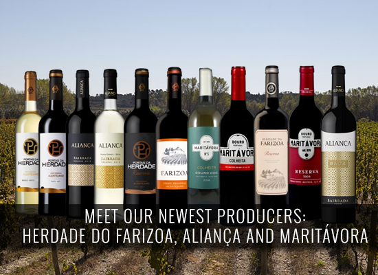 Meet our newest producers: Herdade da Farizoa, Aliança and Maritávora