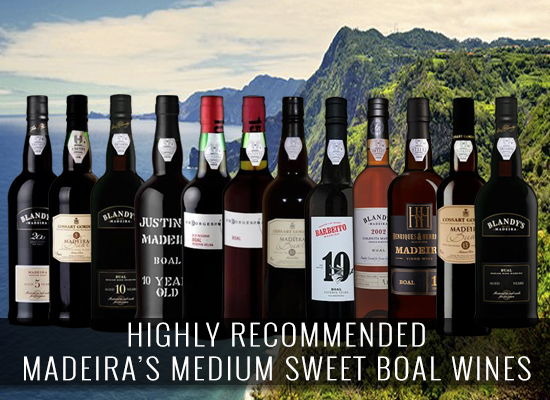 HIGHLY RECOMMENDED: Madeira's Medium Sweet Bual wines