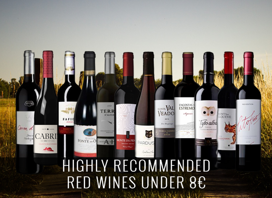 Highly recommended red wines under 8€